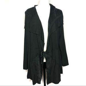 isda & co Sweaters - Isda & Co Black Mixed Media Cardigan